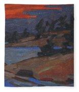 Killbear Flagged Pines At Sunset Fleece Blanket