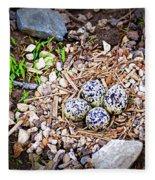 Killdeer Nest Fleece Blanket