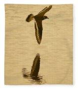 Killdeer Over The Pond Fleece Blanket