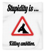 Killing Bigstock Donkey 171252860 Fleece Blanket