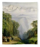Kinchinjunga From Darjeeling Fleece Blanket