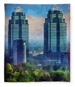 King And Queen Buildings Fleece Blanket