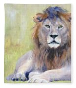 King At Rest Fleece Blanket