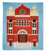 King Edward Street Shul Fleece Blanket