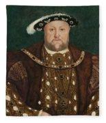 King Henry V I I I Fleece Blanket