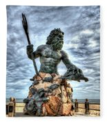 King Neptune Virginia Beach  Fleece Blanket