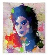 King Of Pop Fleece Blanket