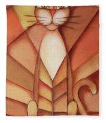 King Of The Cats Fleece Blanket
