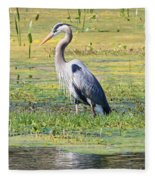 King Of The Marsh Fleece Blanket