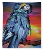 King Parrot 01 Fleece Blanket