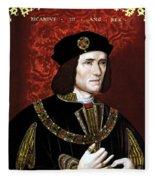 King Richard IIi Of England Fleece Blanket