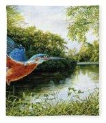 Kingfisher Fleece Blanket