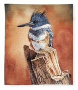 Kingfisher I Fleece Blanket