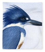 Kingfisher Portrait Fleece Blanket