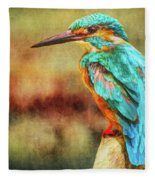 Kingfisher's Perch 2 Fleece Blanket