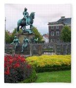 Kings Square Statue Of Christian 5th Fleece Blanket