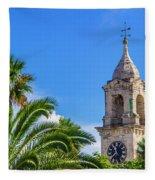 King's Wharf Clock Fleece Blanket