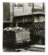 Kingston Pa Kingston Coal Co Ticket Board At The Breaker 1924 Fleece Blanket