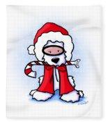 Kiniart Snorkel Westie Santa Fleece Blanket