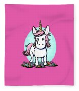 Kiniart Unicorn Sparkle Fleece Blanket