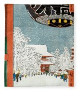 Kinryuzan Temple At Asakusa Fleece Blanket