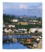Kinsale, Co Cork, Ireland View Of Boats Fleece Blanket