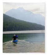 Kintla Lake Paddlers Fleece Blanket