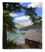 Kintla Lake Ranger Station Glacier National Park Fleece Blanket