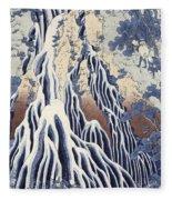 Kirifuri Fall On Kurokami Mount Fleece Blanket