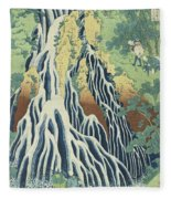 Kirifuri Falls Near Mount Kurokami In Shimotsuke Province Fleece Blanket