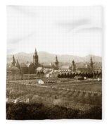 Kirkbride At Napa State Hospital In California Circa 1890 Fleece Blanket