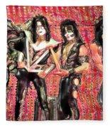 Kiss Watercolor Fleece Blanket