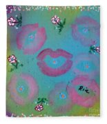 Kisses Fleece Blanket