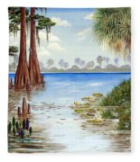 Kissimee River Shore Fleece Blanket