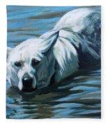 Kita Swimming The Platte Fleece Blanket