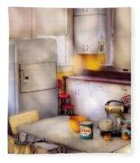 Kitchen - A 1960's Kitchen  Fleece Blanket