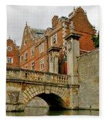 Kitchen Or Wren Bridge And St. Johns College From The Backs. Cambridge. Fleece Blanket
