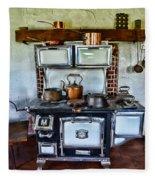 Kitchen - The Vintage Stove Fleece Blanket