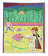 Kite Day Fleece Blanket