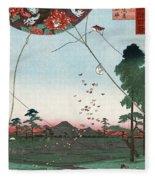 Kite Flying Fleece Blanket
