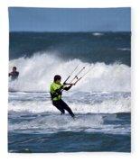 Kite Surfing Fleece Blanket