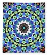 Kite Tiles Mandala Fleece Blanket