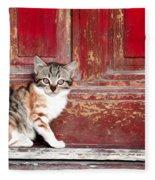 Kitten By Red Door Fleece Blanket