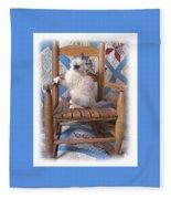 Kitten In The Rocker Fleece Blanket