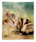 Kitten - Painting Fleece Blanket