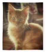 Kitten Portrait Fleece Blanket