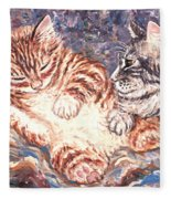 Kittens Sleeping Fleece Blanket