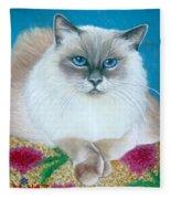 Kitty Coiffure Fleece Blanket
