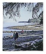 Kitty Colemans Beach - Bc Fleece Blanket