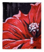 Kitty Flower Fleece Blanket